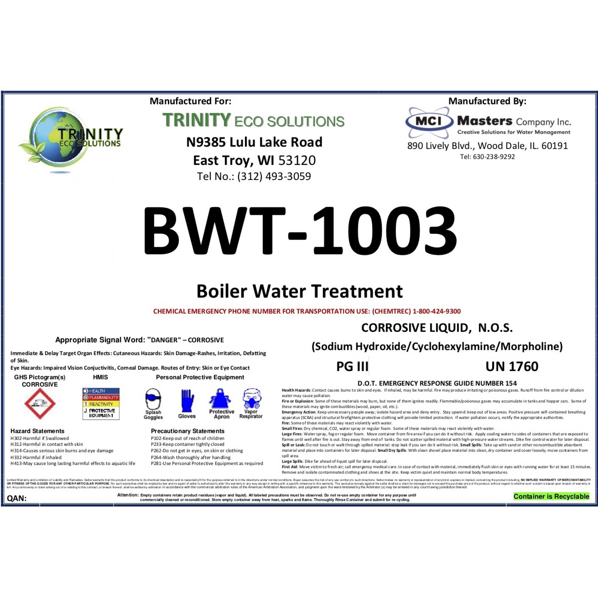 TES 1003 TrinityBWT-1003